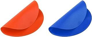 Injoyo 2 Pieces Flat Spot Markers Cones 9 Inch Dia Basketball Floor Spots Equipment