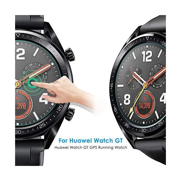 CAVN Compatible con Huawei Watch GT Protector de Pantalla, [4 Packs] Impermeable Vidrio Templado Protector de Pantalla… 2
