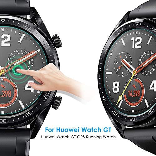 CAVN Panzerglas Kompatibel mit Huawei Watch GT Sport /Classic /Active Schutzfolie [4-Stück], (Nicht für GT 2) Wasserdichtes gehärtetes Glas Anti-Scratch Anti-Bubble Displayschutzfolie Schutz für GT - 2