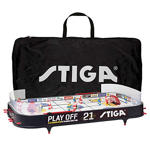 STIGA Eishockey Tischspiel Playoff 21 Hockey Spiel Schweden-Kanada mit Aufbewahrungstasche