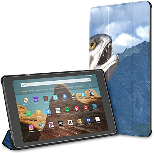 Case For Large 3d Of Giant Bone Fish Fire Hd 10 Tablet (9th/7th Generation, 2019/2017 Release) KindleE-readerCase FireHdFire10Case Auto Wake/sleep For 10.1 Inch Tablet