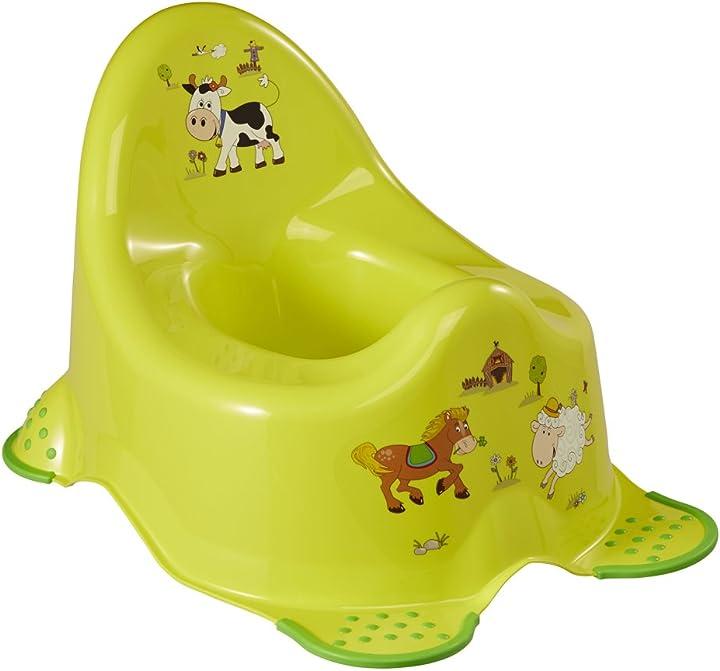 Vasino per bambini - da 18 mesi a 3 anni circa, funzione antiscivolo, adam, verde - funny farm- okt 1864827406300