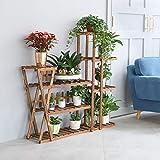 unho Blumenregal Pflanzenregal aus Holz