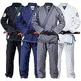 Gold BJJ Jiu Jitsu Gi - Ultra Lightweight Men's Aeroweave - Preshrunk Brazilian Jiu Jitsu Uniform for Men (Grey, A3)