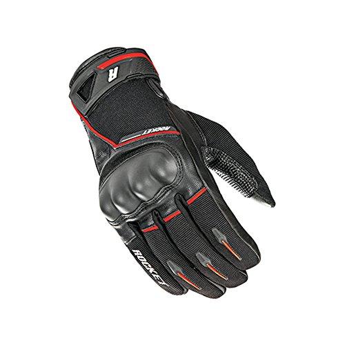 Joe Rocket Supermoto Mens Street Motorcycle Leather Gloves - Black/Red/Large