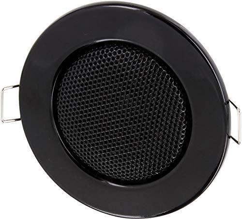 Einbau Lautsprecher Vollmetall 3W - Einbau Ø 60mm - Klemm Montage - Halogen-Design - schwarz