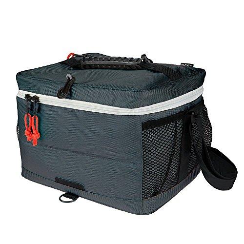 PACKIT Cooler Bag 18 can Lunch-kühltasche Einfrierbar, Poly Canvas, Eva-Kunststoff, Charcoal, 23.5 x 29.8 x 21.6 cm, 9 Liter
