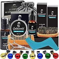 Beard Care Kit for Men,Beard Growth Kit w/Free E-book,Beard Shampoo,Orange Scented Beard Oil,Beard Balm,Beard Brush...