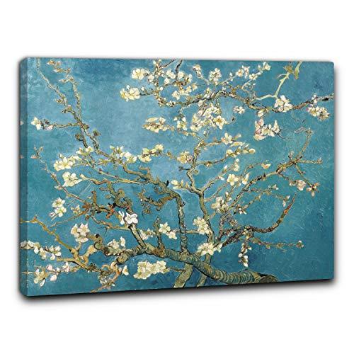 Niik Quadro + Telaio (BC) mandorlo in Fiore di Vincent Van Gogh 60 x 47,5 x 1,7 cm Falso d'autore Stampa su Tela