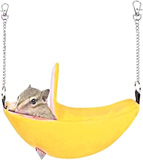 KUDES Hamster Hammock Small Animals Breathable Mesh Hanging Bed Mat House Cage Nest Accessories