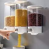 YXZN Dispensador De Cereales En La Pared, Dispensador De Cereales, 1500 Ml, Recipiente para Alimentos Secos
