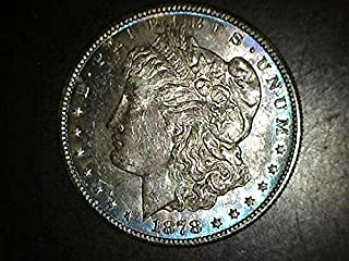 1878 S Morgan Dollar- Exceptional Coin - Beautiful Strike $1 CH MS BEAUTIFUL RAINBOW TONING US Mint