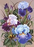 HautHome DIY 5D Hermosas flores Diamond Painting Kit Completo Punto de Cruz Diamante Pintar con Diamantes Kits,Cuadro de Diamantes Manualidades para Decoración de Pared (30×40cm)