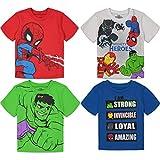 Marvel Super Hero Adventures Toddler Boys 4 Pack T-Shirts Avengers Hulk Spiderman 5T