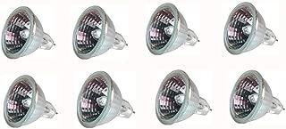 EBD Lighting MR16 Halogen Light Bulbs 8 Pack Halogen Lamp 35W,12V,G5.3 Base Warm White Halogen Bulbs for Landscape Light,School,Family