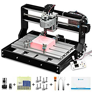 Genmitsu CNC 3018-PRO Router Kit GRBL Control 3 Axis Plastic Acrylic PCB PVC Wood Carving Milling Engraving Machine, XYZ Working Area 300x180x45mm (B07P6K9BL3)   Amazon price tracker / tracking, Amazon price history charts, Amazon price watches, Amazon price drop alerts
