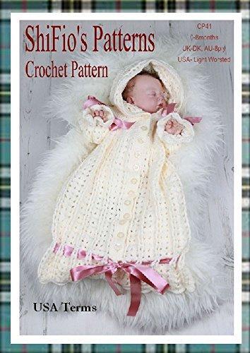 Crochet Pattern - CP41 - Baby Snuggly Sleeping Bag - 0-3mths - USA Terminology (English Edition)