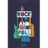 Colorful Rock And Roll Music Journal Notebook Souvenir Diary: 100 Blank Ruled Pages 6x9 inch, Rock It Now: Make Some Noise, Rock You  Journal Quotes Diary Notebook Graphic Design Gifts And Souvenir, Back To School
