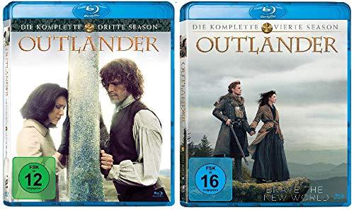 Outlander - Die komplette Season / Staffel 3+4 im Set - Deutsche Originalware [10 Blu-rays]