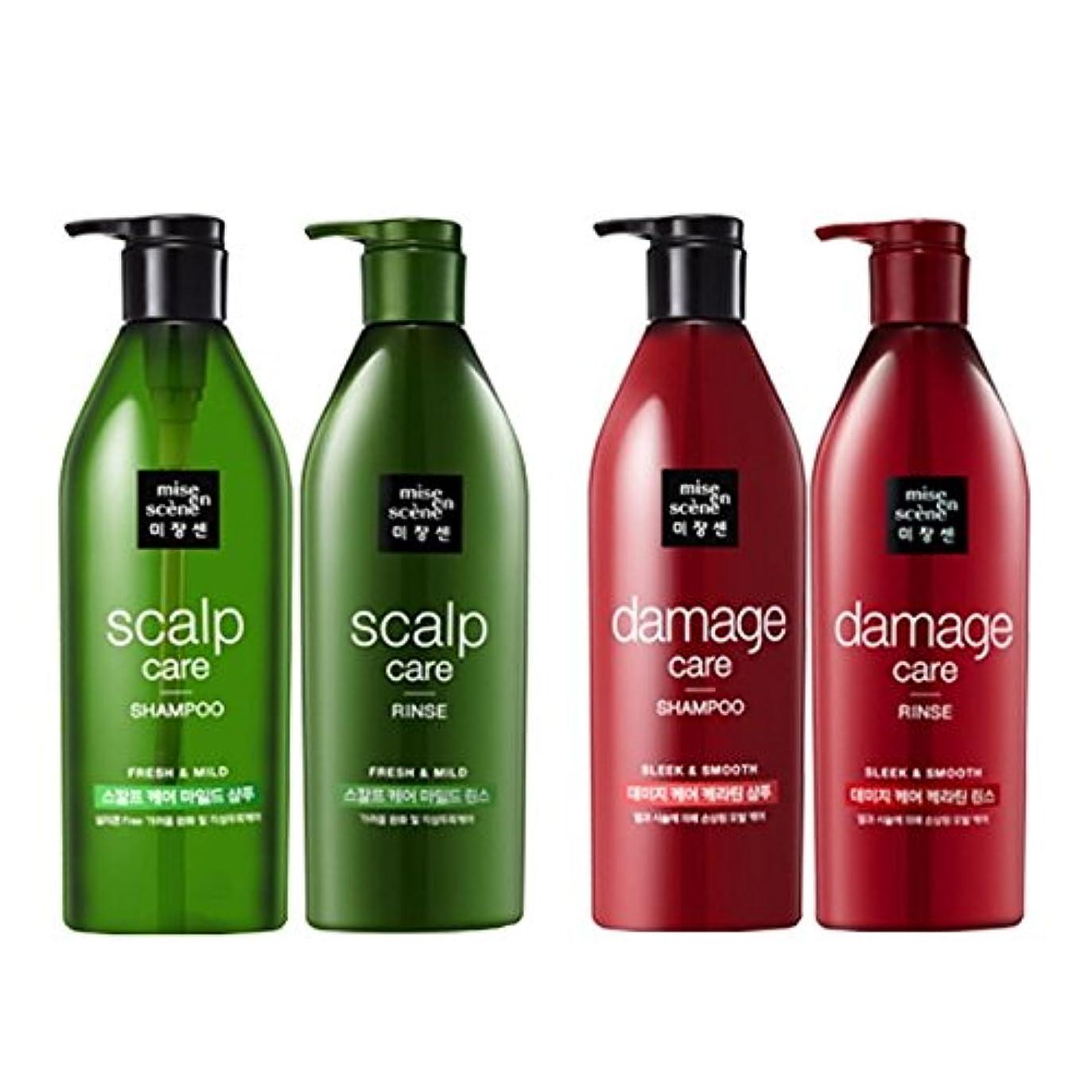 アラブ人寄付する暖かく[ミジャンセ ] Miseen Scene [アモーレパシフィック?ミジャンセン]スカルプケア?シャンプー680ml +リンス680ml [Scalp Care Shampoo Rinse Set] & ダメージケア シャンプー 680ml + リンス680ml [Damage Care Shampoo Rinse Set] [並行輸入品]