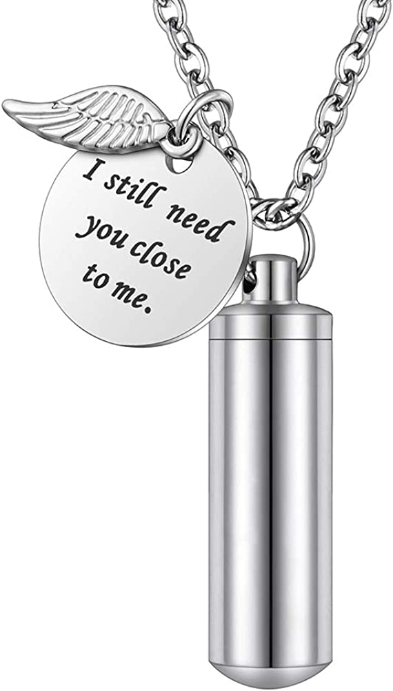 Cylinder Urn Necklace for Factory outlet Ashes Jewelry Cremation Keychain h Surprise price