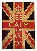 ポスター 名言 格言 英語 Keep Calm and Carry On 平静を保ち、普段の生活を続けよ MI15