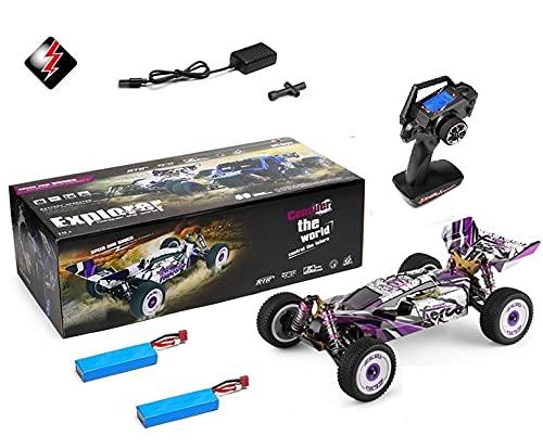 MODELTRONIC Coche RC Profesional Buggy 1/12 Wltoys XKS 124019 tracción 4X4 Emisora LCD 2.4Ghz Alta Velocidad de 60km/h + BATERIA Extra