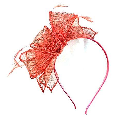 Différentes formes 3D Corail Bandeau aliceband Chapeau Bibi mariage Mesdames Jour Race Royal Ascot