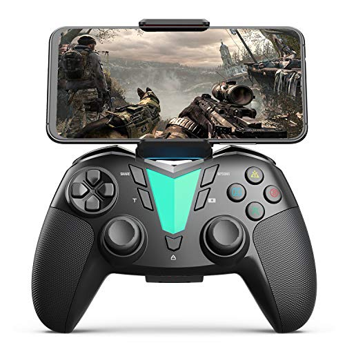 Mobile Game Controller Compatible with iPhone iPad(Ver.13 or Later, Only for MFi Games) / Android Smart Phone(Ver.10 or Later) / PS4, IFYOO ONE Pro Wireless Gaming Gamepad Joystick - Black