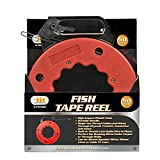 IIT 76560 Electrician Fish Tape Reel 50-Feet High Impact Case for Electric or Communication Wire Puller
