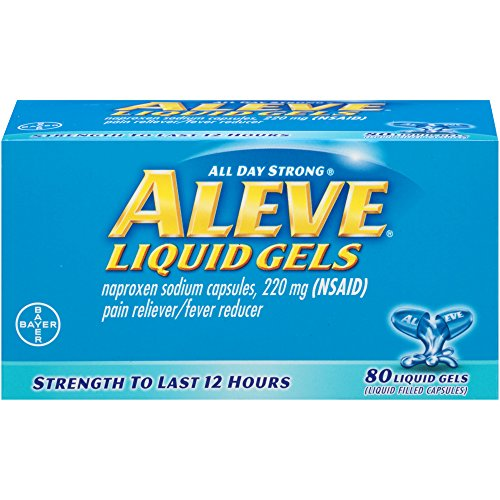 Aleve Pain Reliever/Fever Reducer Liquid Gels, 80 ea (Pack of 2)