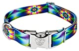 1 INCH WIDTH | Adjustable from 16 inch - 22 inch neck. We want your pup to be able to show off their new collar, so be sure and measure for the correct size. GROOVY COLLECTION | Groovy prints to make your pup look great. Far out color combinations an...