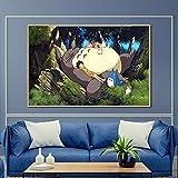Pintura sin Marco Anime Movie Art Cat Neighbour Poster Modern Cartoon Wall Picture Decorate Living Room Niños ZGQ2377 40X60cm