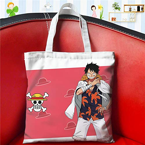 JJZZ Anime One Piece Canvas Bag - Bolsa de la compra, bolso bandolera, para estudiantes masculinos y femeninos