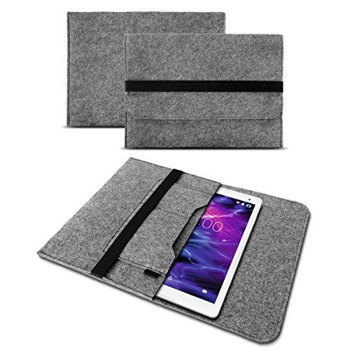 Schutzhülle Sleeve Tasche Cover Laptop Hülle für Medion Lifetab P10610 P10603 E10414 E10604 E10412 P10602 X10605 X10607 X10311 P9702 X10302 P10400 P10506 P10505 Filz Hülle Tablet, Farben:Helles Grau
