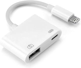 OKCS Kamera Adapter USB 3.0 Port kompatibel für iPhon 11, 11 Pro, 11 Max, XS, XS Max, X, 8, 8 Plus, 7, 7 Plus, 6s, 6s Plus, 5, 5s, Touch, Mini 1, 2, 3   Weiss