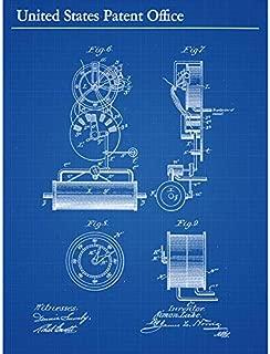 Lake Submarine Vessel Part Design 1897 Patent Plan Art Print Canvas Premium Wall Decor Poster Mural