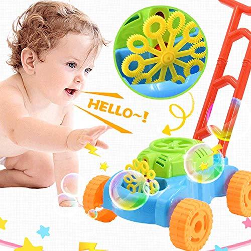 Pompero Juguetes, Burbuja Cortacésped de Césped Máquina, Diversión Burbujas Blowing Empuje Juguetes Para Bebés/Niños, Exterior Cartoon Burbuja Fabricante Juguete para Jardín - aleatorio color