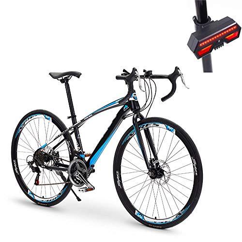 Bicicleta, Bicicleta De Carretera, 49 Cm 21 Velocidades, Acero De Alto Carbono, Freno De Disco Doble, Amortiguador Hidráulico, Neumático Antideslizante, Señal De Giro De Bicicleta De Regalo