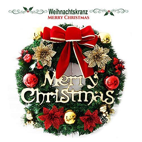 TheStriven Ghirlande Natalizie per Porta d'ingresso da 30cm Ghirlanda Natalizia Decorativa Ghirlanda di Natale per la Porta Ghirlanda di Decorazioni per la Casa Ghirlanda per Natale Decorazioni
