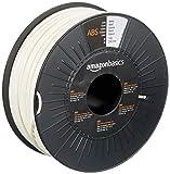 AmazonBasics - Filamento para impresora 3D, plástico ABS, 2,85 mm, cinta de 1 kg, blanco