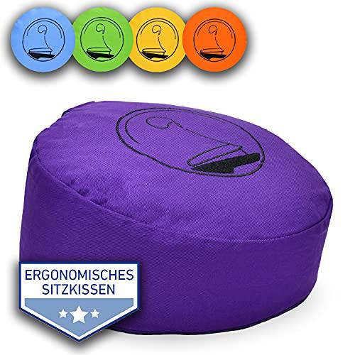 & # X950; clair Esprit Coussin de méditation ergonomique & Yoga Coussin & # x2714–14Designs & # x2714–3tailles & # x2714–Dos Droit & # x2714–Plus Méditer S lilas