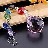 CHICIRIS Sospensione a sospensione Rainbow Crystal Prismi Lampadario a sfera per arredamento di finestre(Rosa)
