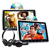 2021 Headrest DVD Player Car DVD Player 10.1'' Dual Car DVD Players with 2 Headphones Eonon C1100A for Kids Support Same/Different Video Playing/AV Out & in HDMI USB SD Port Touch Button.