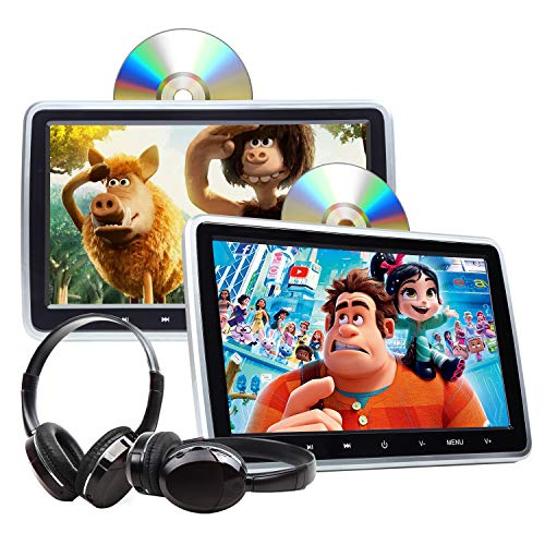2021 Headrest DVD Player Car DVD Player 10.1'' Dual Car DVD Players with 2 Headphones Eonon C1100A...