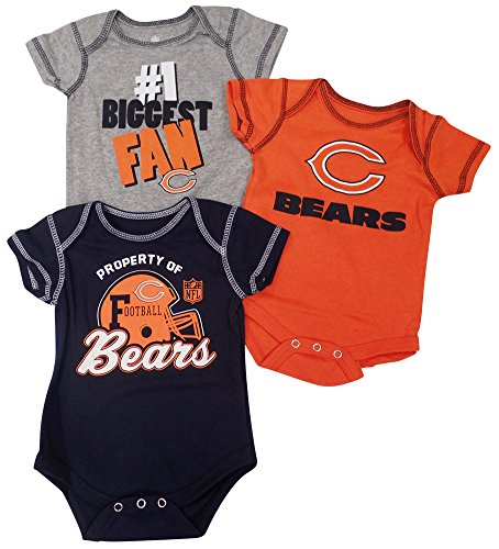 Outerstuff Chicago Bears Traditions Baby/Infant 3 Piece Creeper Set 6-9 Months