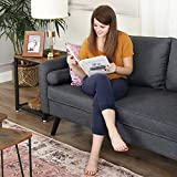 VASAGLE Sofa 3 Sitzer, Couch mit Bezug aus Leinenimitat, 180 x 82 x 83 cm, Polstermöbel für kleine Wohnungen, Gästezimmer, Jugendzimmer, mit Holzgestell, einfacher Aufbau, grau, LCS10GY - 3
