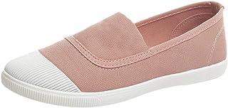 95sCloud Zapatillas de deporte para mujer, para correr, para el aire libre, para verano, planas, sin cordones (rosa, 38)