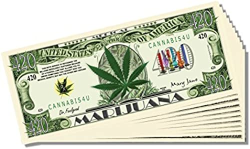 Marijuana Novelty Million Dollar Bill - 25 Count with with with Bonus Clear Projoector & Christopher Columbus Bill by AAC   PCSCP  promocionales de incentivo