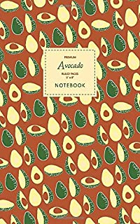 Avocado Notebook - Ruled Pages - 5x8 - Premium: (Autumn Edition) Fun notebook 96 ruled/lined pages (5x8 inches / 12.7x20.3...